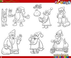 vacances de noël dessin animé humoristique mis page de livre de coloriage