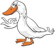 dessin animé, canard, ferme, oiseau, animal, caractère vecteur