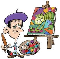 dessin animé peintre artiste personnage comique