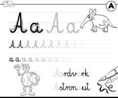 apprendre à écrire une lettre un classeur pour les enfants vecteur