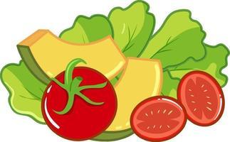 ensemble de salade de légumes sains vecteur