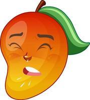 personnage de dessin animé de mangue avec expression faciale vecteur