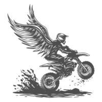 illustration vectorielle de motocross aile vecteur