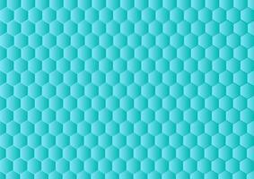 fond hexagonal dégradé. fond bleu abstrait avec motif hexagonal. vecteur