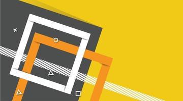 abstrait graphique futuriste moderne. fond jaune avec des rayures. conception de fond abstrait géométrique minimaliste, fond de bannière dans des couleurs jaunes et grises vives. conception de vecteur