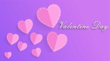 arrière-plans de la Saint-Valentin. style de coupe de papier de conception. illustration vectorielle
