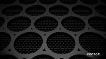 conception de fond abstrait avec texture en métal perforé. conception illustration vectorielle 3d