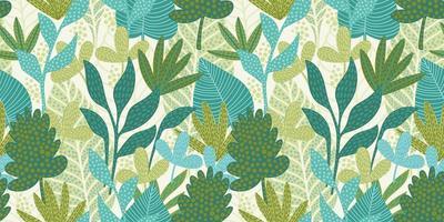 modèle sans couture artistique avec des feuilles abstraites. design moderne pour papier, couverture, tissu, décoration intérieure et autres. vecteur