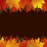 Feuilles d'érable d'automne sur fond marron avec espace copie