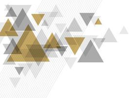 conception de fond de luxe abstrait d & # 39; illustration vectorielle triangle