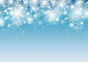 conception de fond de Noël de flocon de neige blanc et neige avec illustration vectorielle de copie espace