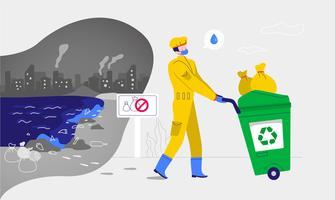L'eau propre de la pollution Vector Illustration