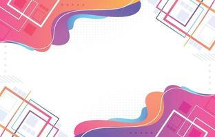 fond abstrait vague géométrique colorée vecteur