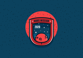 Mission à Mars Patch Vector