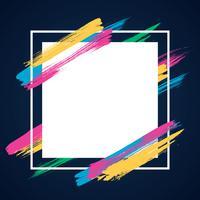 Fond de cadre de thème bannière abstrait moderne vecteur