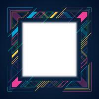 Lignes géométriques abstraites Cadre moderne bannière fond de cadre vecteur