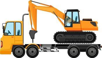 Dépanneuse transportant un gros tracteur grue
