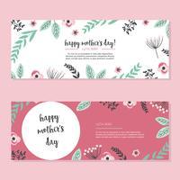 Cartes roses pour la fête des mères vecteur