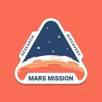Emblèmes de logos de la mission spatiale de Mars vecteur