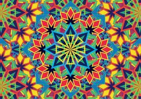 Modèle coloré de Kaléidoscope vecteur
