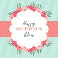Vecteur de carte de fête des mères heureux