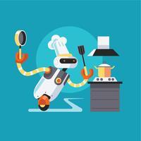 Cuisinier de robot rapide vecteur