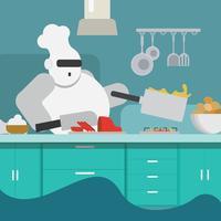 Un chef robot vecteur