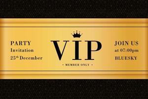 flyer d'affiche de carte d'invitation premium party vip vecteur