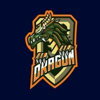 personnage de mascottes de dragon vecteur