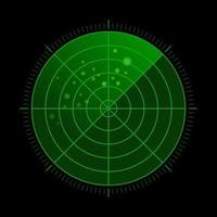 Radar vert hud avec des cibles en action vecteur