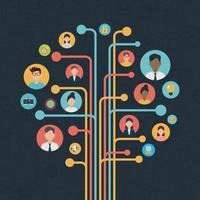 design plat de réseaux sociaux