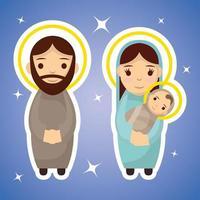 épiphanie de jésus, famille sacrée vecteur