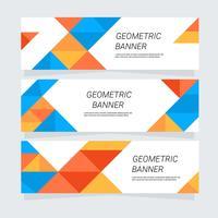 Bannière géométrique vecteur