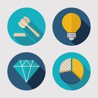 jeu d'icônes finance, technologie et entreprise