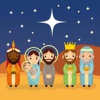 épiphanie de la scène de Jésus vecteur