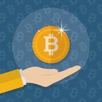 crypto-monnaie et argent, design plat concept finance