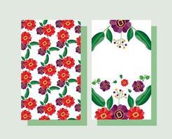 enregistrer le jeu de cartes de mariage floral date