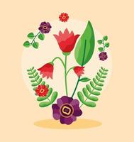 enregistrer la carte de mariage floral date