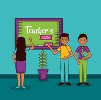 conception de célébration de la journée des enseignants heureux