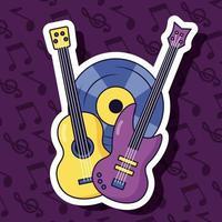 conception de musique mignonne avec des icônes pop