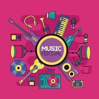 fond de festival d'instruments de musique