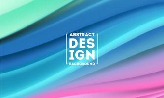 modèle de conceptions d'affiche de forme abstraite de flux de couleur