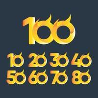 100 ans anniversaire célébration vector illustration de conception de modèle