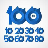 100e anniversaire célébrations vector illustration de conception de modèle