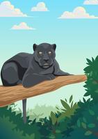 Panthère noire vecteur