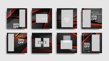 bannières promotionnelles éditées par carré moderne pour les publications sur les réseaux sociaux illustration de conception de vecteur