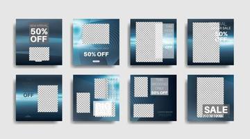 bannière web carrée de promotion moderne pour les médias sociaux