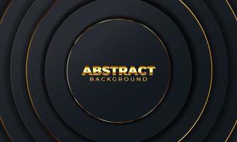 abstrait avec des formes géométriques. fond abstrait noir avec des formes de papier géométriques. illustration vectorielle
