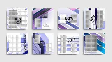 bannière web carrée de promotion moderne pour les médias sociaux. conception de vecteur