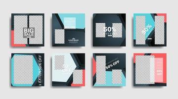 bannière web carrée de promotion moderne pour les médias sociaux. illustration de conception de vecteur